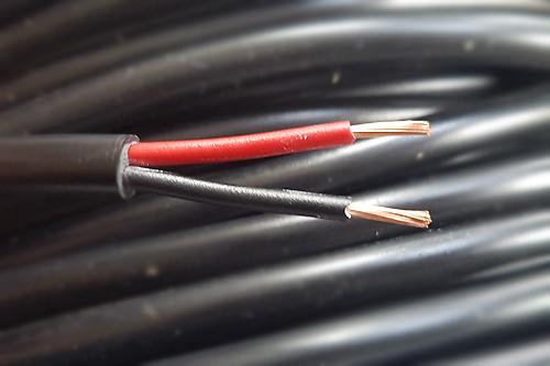 Kabel rund schwarz 2x1mm² (Preis pro Meter)
