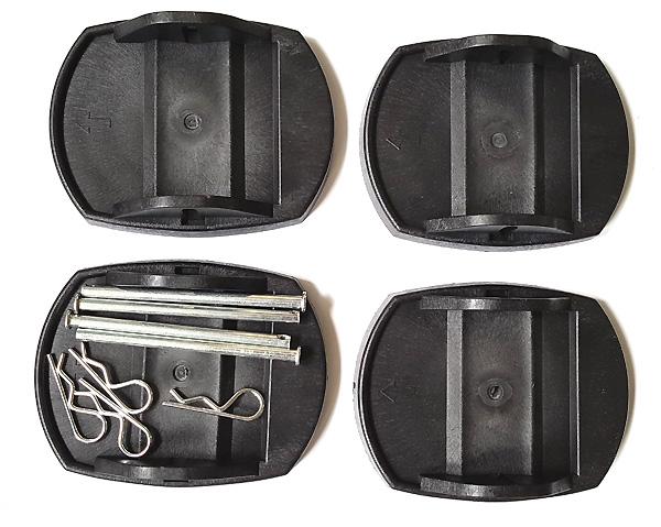 Kunststoffstützplatten (4er-Set) für Wohnwagen- und Caravanstützen