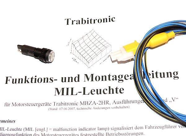 MIL-Leuchte (Fehlfunktionsanzeige) für Trabitronic-Zündungen MBZA Version D + V