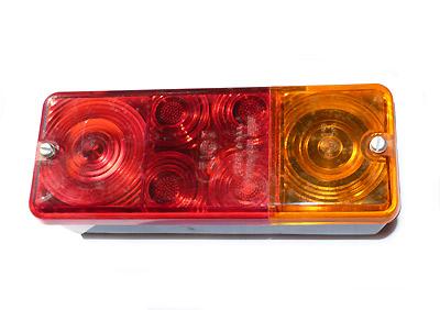 Rücklicht komplett rechteckig für Trabant Kübel und DDR-Anhänger