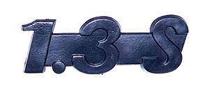 Schriftzug --1.3 S-- Plaste Nachproduktion für Wartburg 1.3