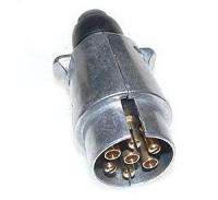 Stecker 7 polig (DDR) für Anhängerkupplung in Metallausführung