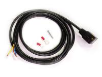 Elektrisches Benzin-Absperrventil komplett 12V ohne Stecker und Kabel für 8mm Schlauch