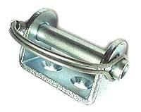 Bock + Lagerbolzen mit Federbügel, verzinkt zur Ladungssicherung