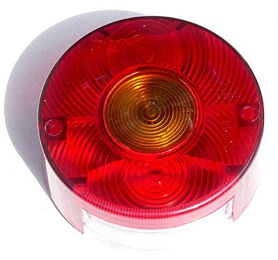 Rücklichtschale rund für Qek, Wohnwagen, DDR-Hänger, Kübel und viele mehr... mit Kennzeichenbeleuchtung