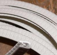 Gummiprofil Kantenschutz Keder mit Stahleinlage für Trabant und QEK Junior uvm. beige matt