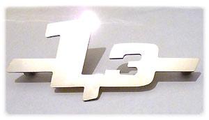 Edelstahl-Schriftzug --1.3-- Trabant T1.1