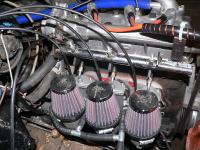 Adapterflansch für 3er Vergaseranlage MIKUNI an Wartburgmotor 353