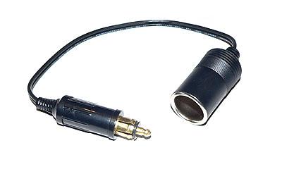 Adapterkabel von IFA-Bordspannungsstecker auf 20 mm Steckdose (Zig. Anzünder)
