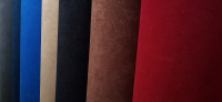 Himmelstoff Velour gelocht mit Schaumstoffrücken für Qek Junior, versch. Farben
